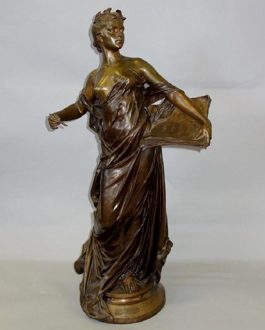 Edouard Drouot (1859-1945) Bronze, La Science