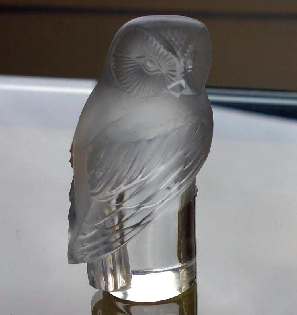 Lalique Crystal Owl Paperweight, France - 2