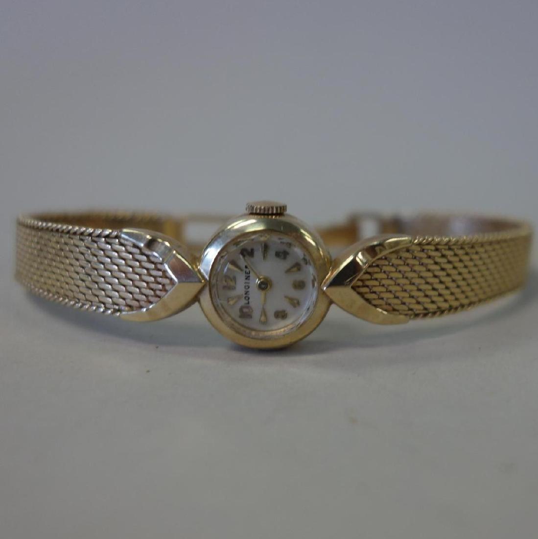 Longines 14K Gold Wrist Watch & 14K Gold Band