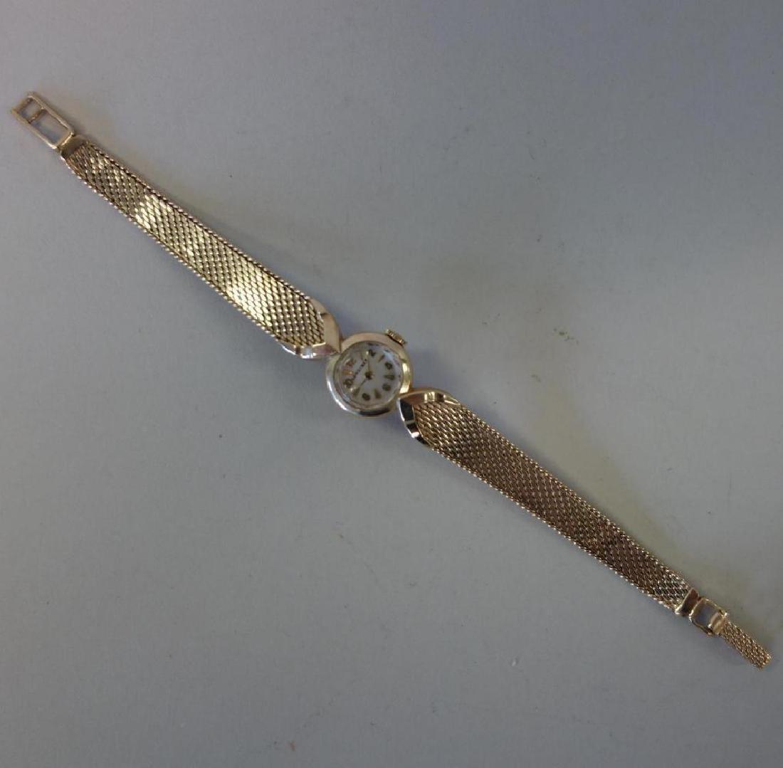 Longines 14K Gold Wrist Watch & 14K Gold Band - 2