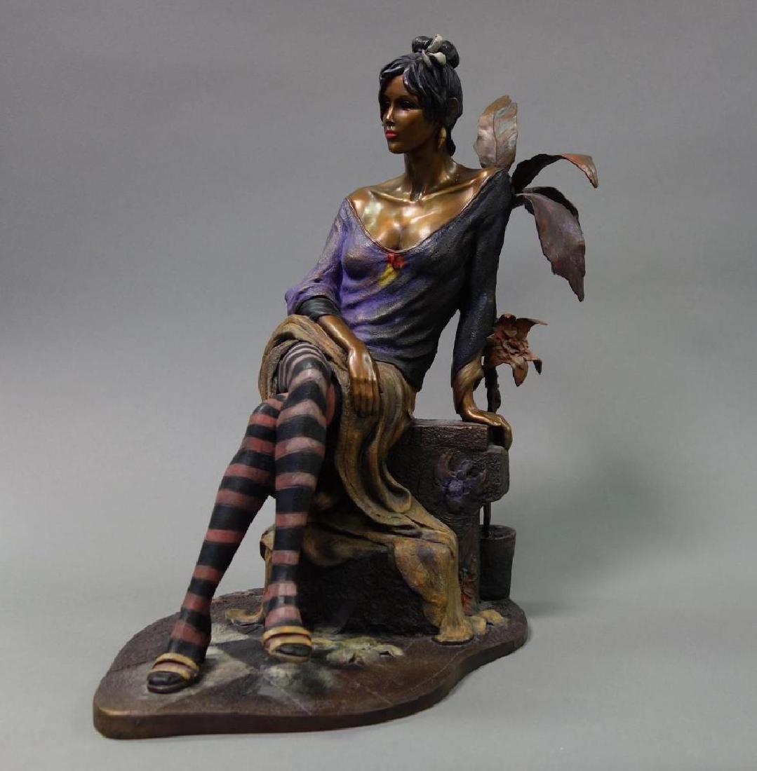 Isaac Maimon (b-1951) Bronze, Monique