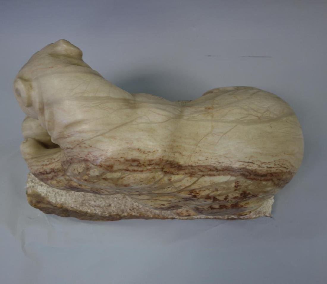 Carved Stone / Marble Sculpture, Tender Arctic, Sgnd MR - 4