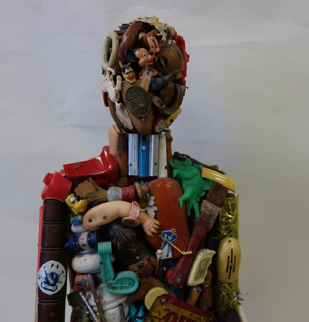 Leo Sewell (b-1945) Seated Man, Assemblage - 2
