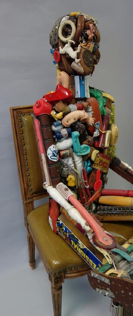 Leo Sewell (b-1945) Seated Man, Assemblage - 4