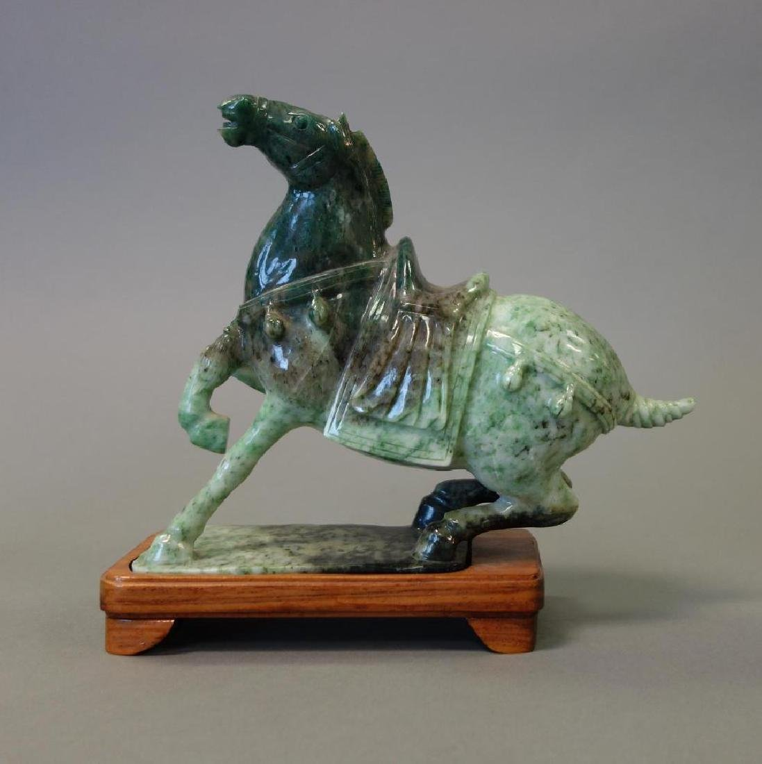 Chinese Carved Jade Figure of a Tang Horse