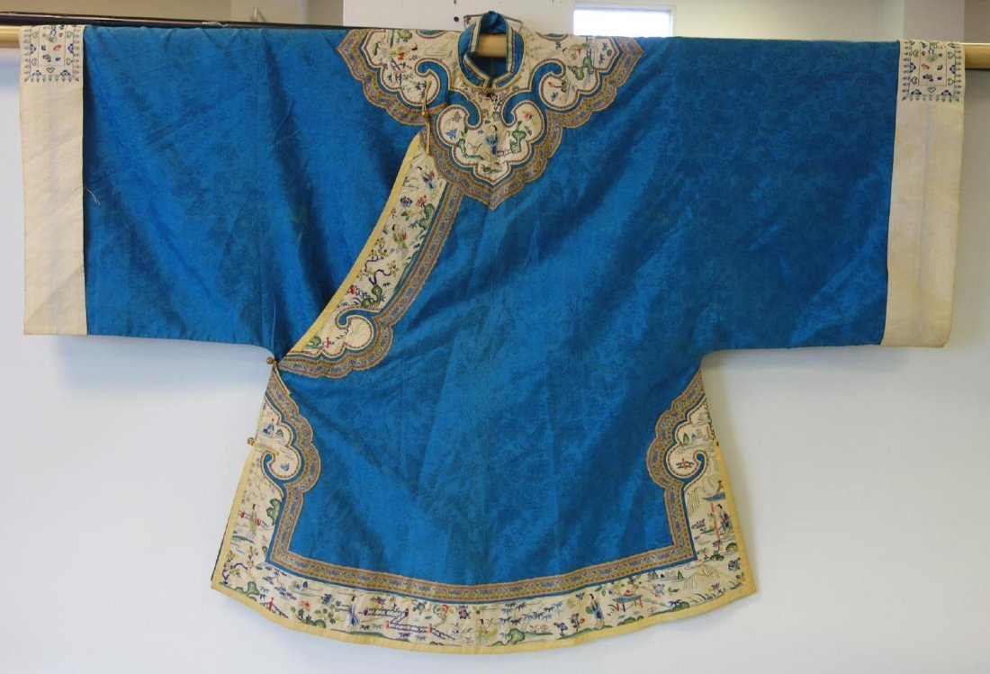 Chinese Silk & Embroidered Robe, Qing Dynasty