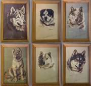 Josephine Crumrine (1917-2005) Husky Dogs