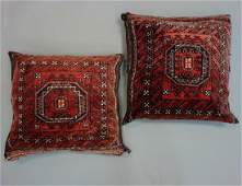 2 Persian Hand Woven Belouch Wool Pillows