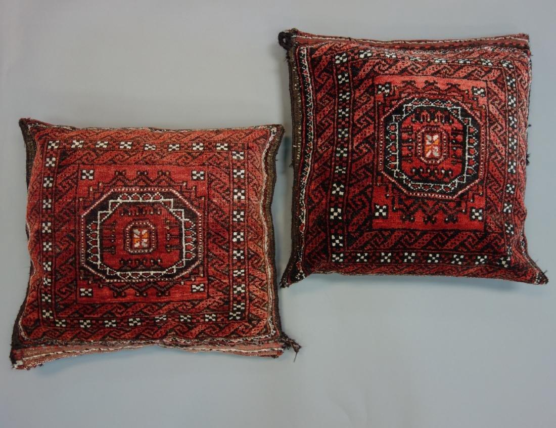 2 Persian Hand Woven Belouch Wool Pillows