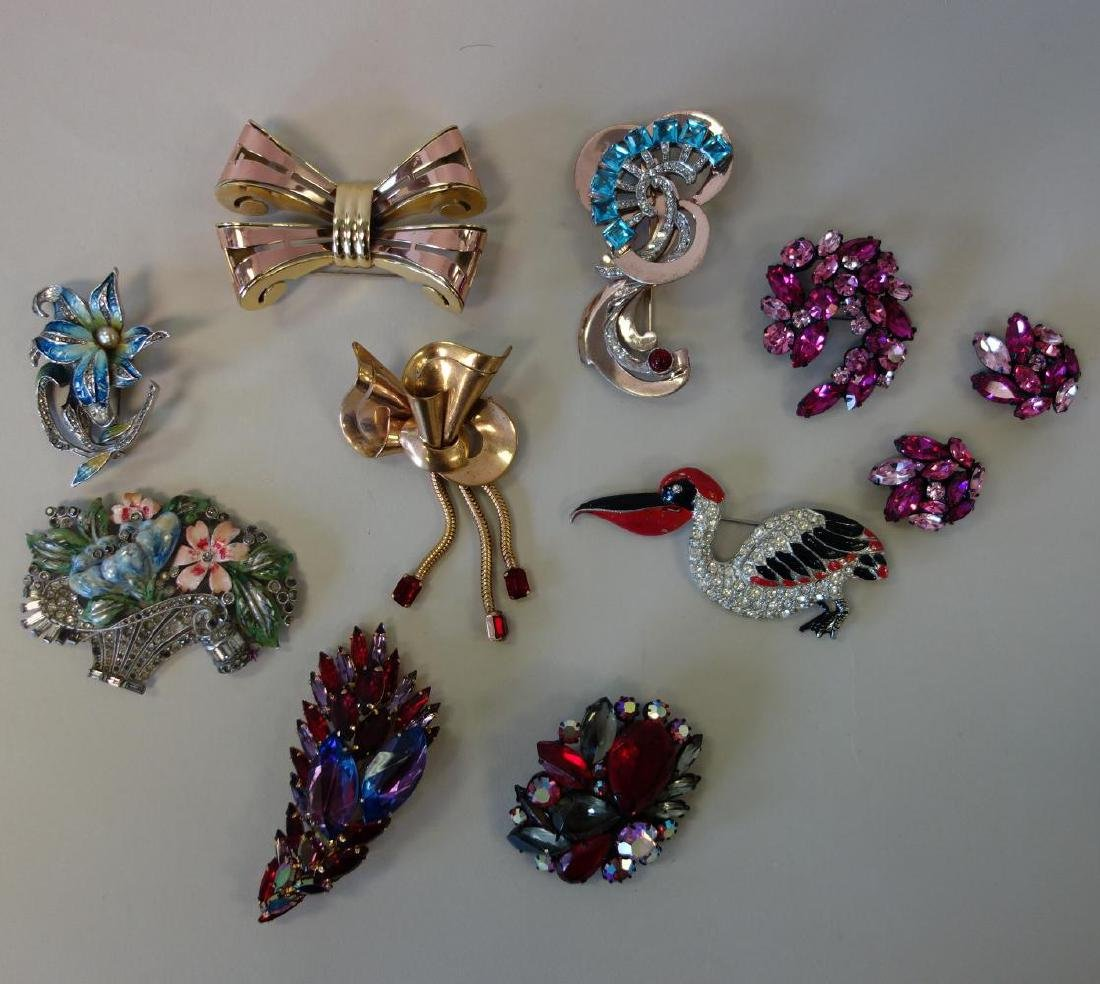 Vintage Costume Jewelry Brooches, Regency, Monet +