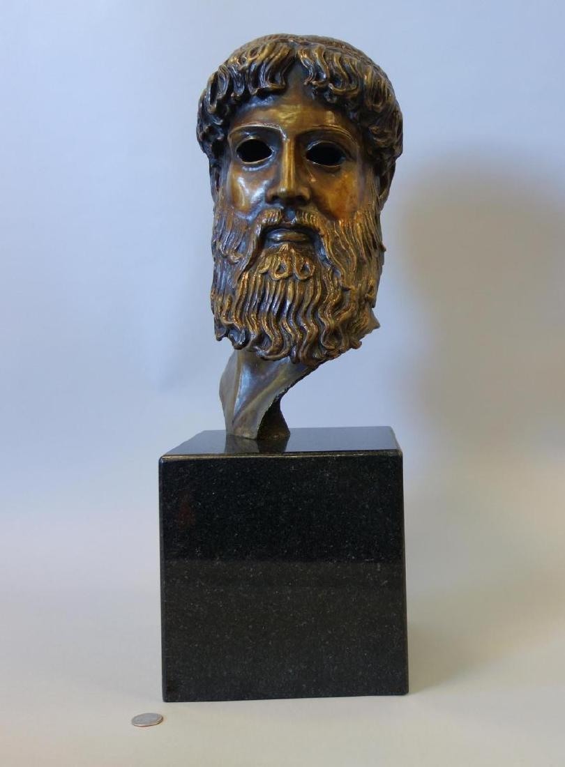 Bronze Sculpture of Hercules, Signed Issac