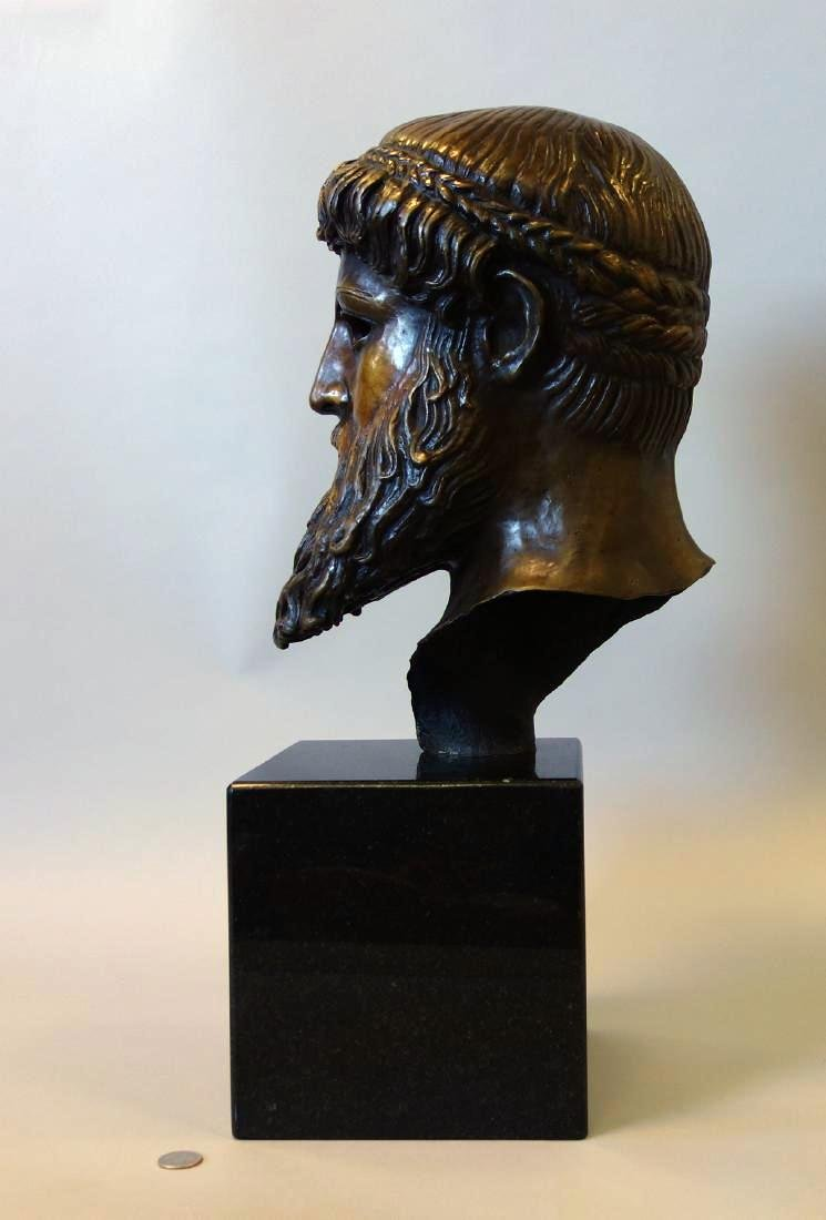 Bronze Sculpture of Hercules, Signed Issac - 3