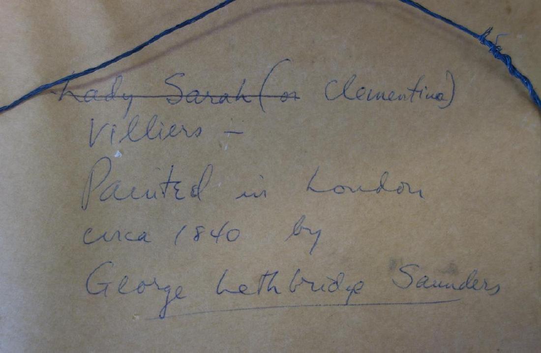George Lethbridge Saunders, Portrait Lady Villiers - 4