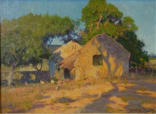 Gordon Coutts (1868-1937) California Barnyard