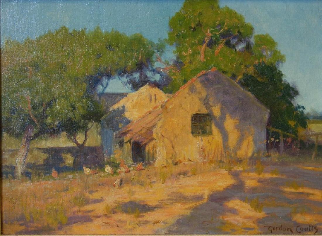 Gordon Coutts (1868-1937) California Barnyard