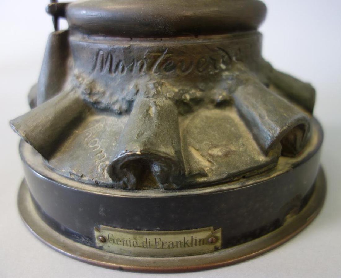 Giulio Monteverde (1837-1917) Bronze, di Franklin - 5