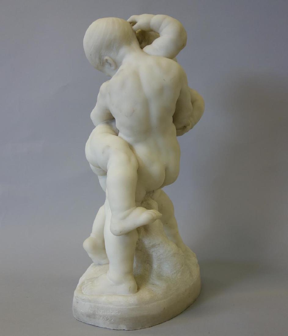 Alfred Boucher (1850-1934) Children Wrestling - 2
