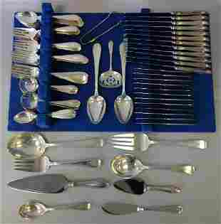 Dominick & Haff Sterling Flatware Mayflower 96 Pcs