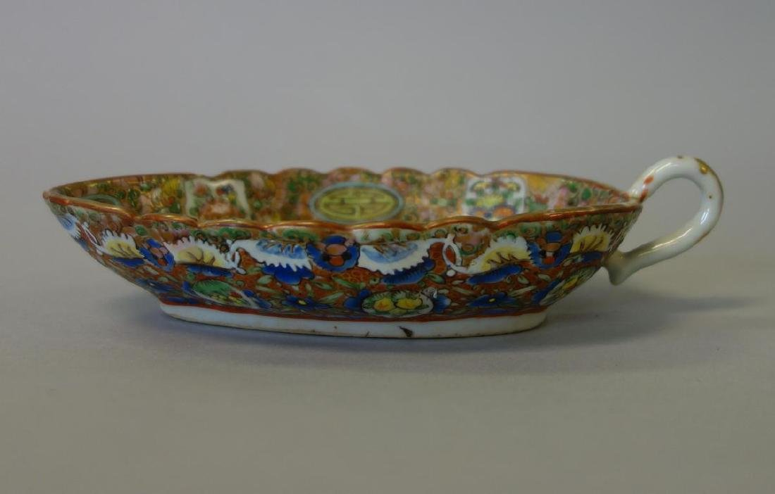 19thc Chinese Export, Tureen, Sauce Boat & Trays - 5