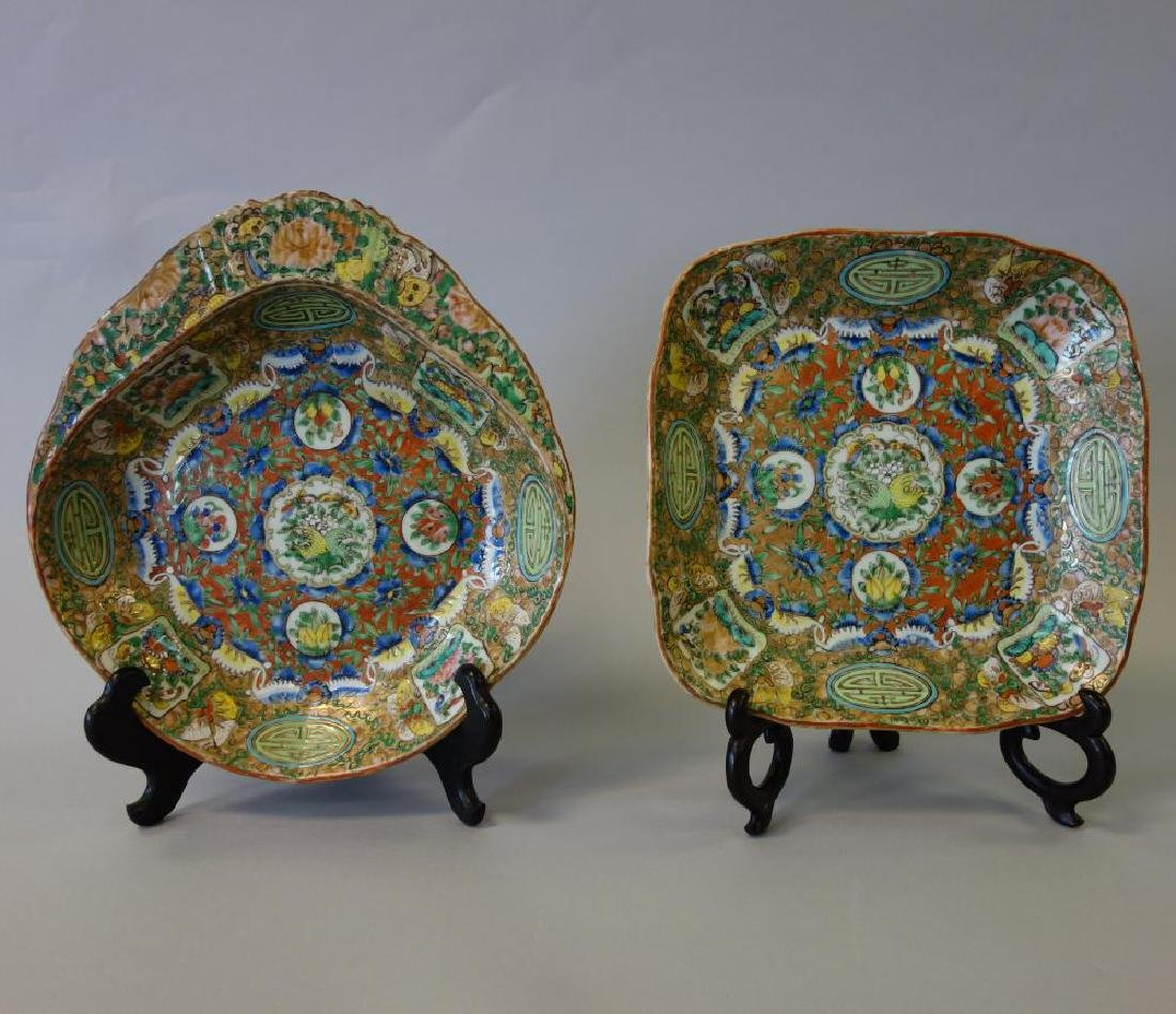 19thc Chinese Export, 2 Serving Dishes