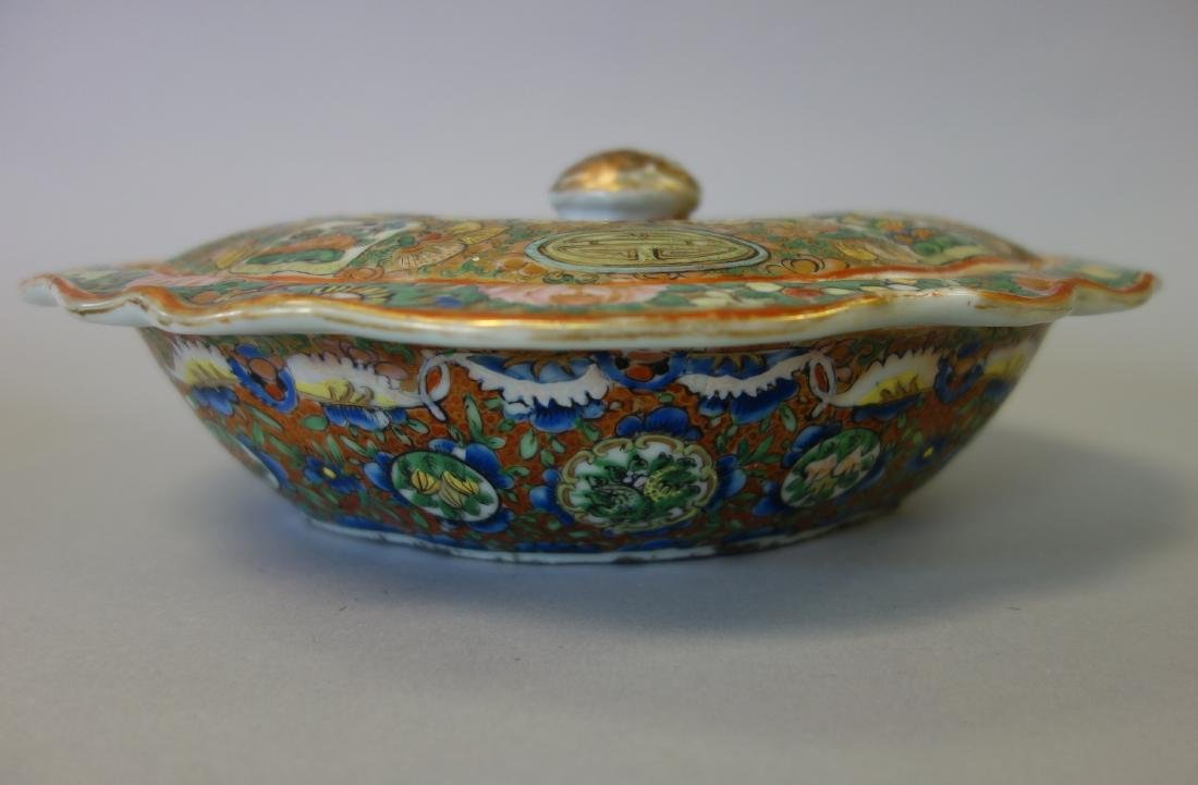 19thc Chinese Export, 3 Covered Vegetable Dishes - 3