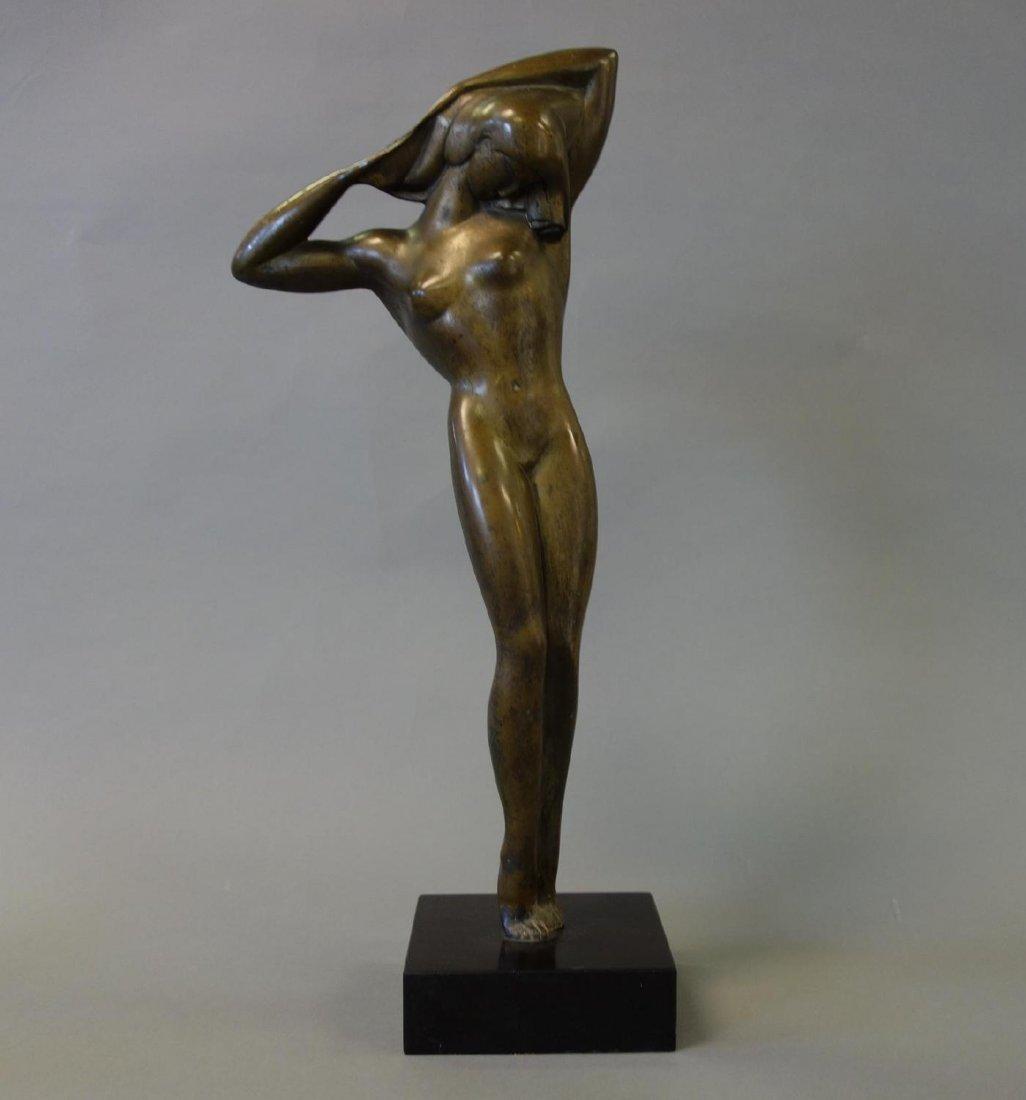 Boris Lovet-Lorski (1894-1973) Bronze Nude, Signed
