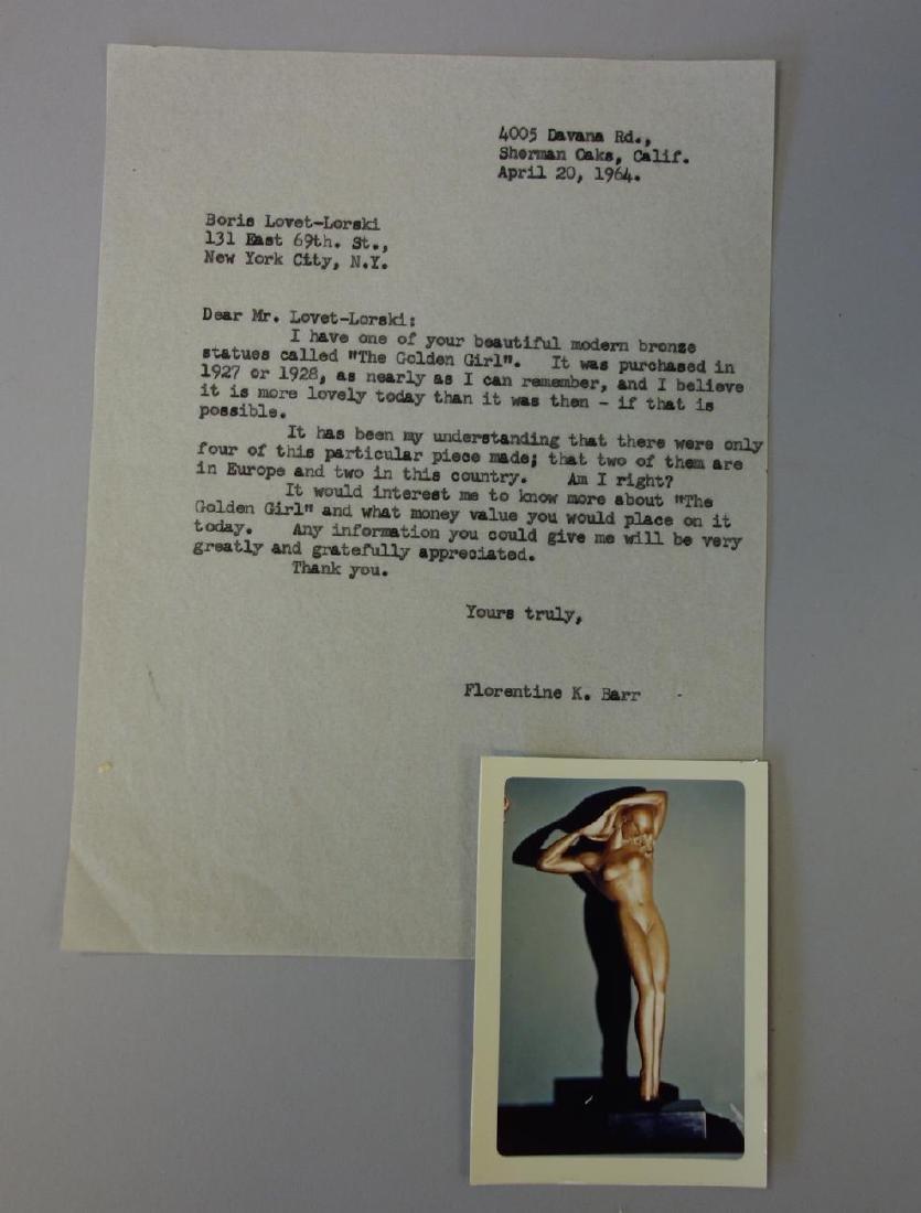 Boris Lovet-Lorski (1894-1973) Bronze Nude, Signed - 8