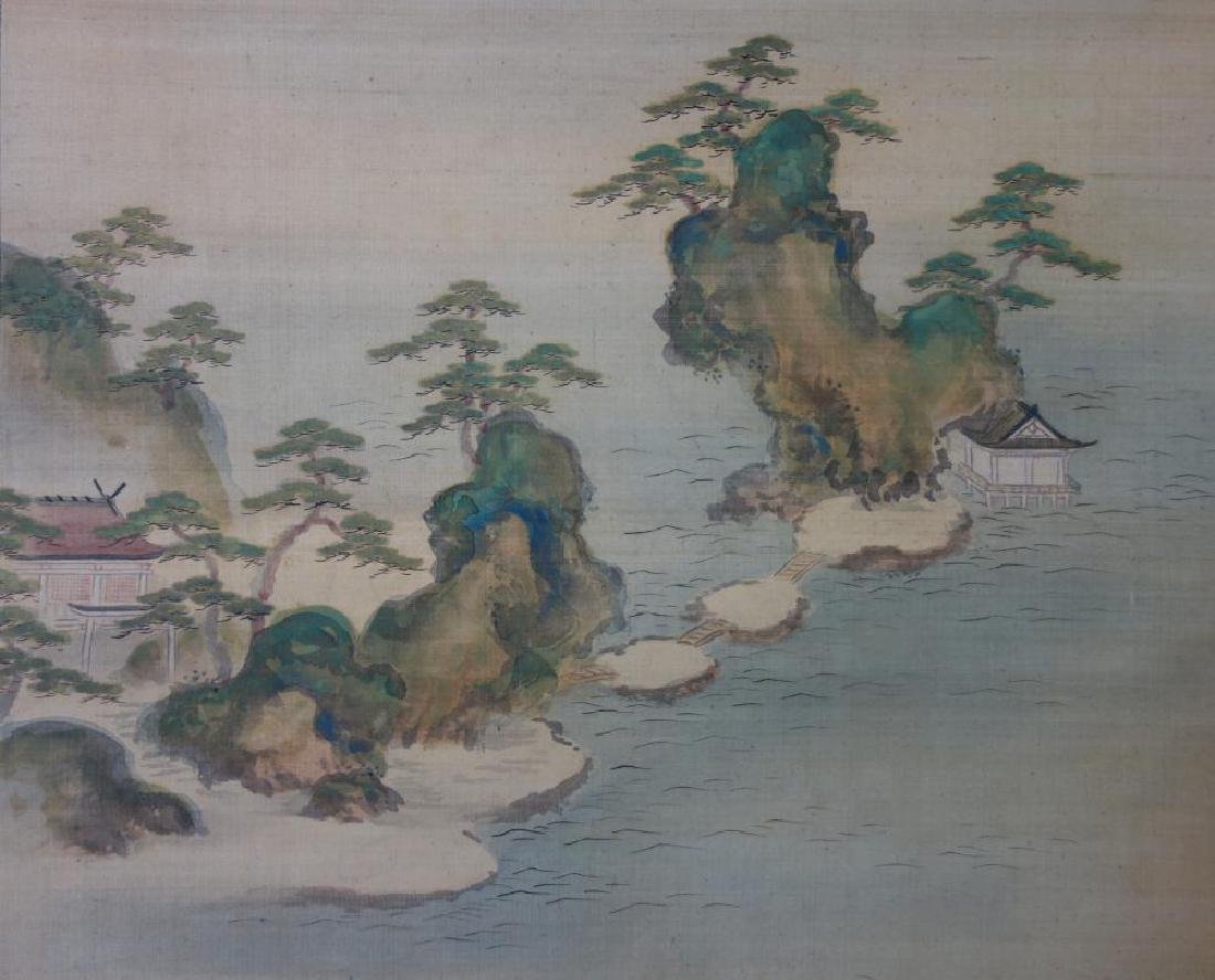 Japanese Scroll Painting, Signed & Sealed - 2