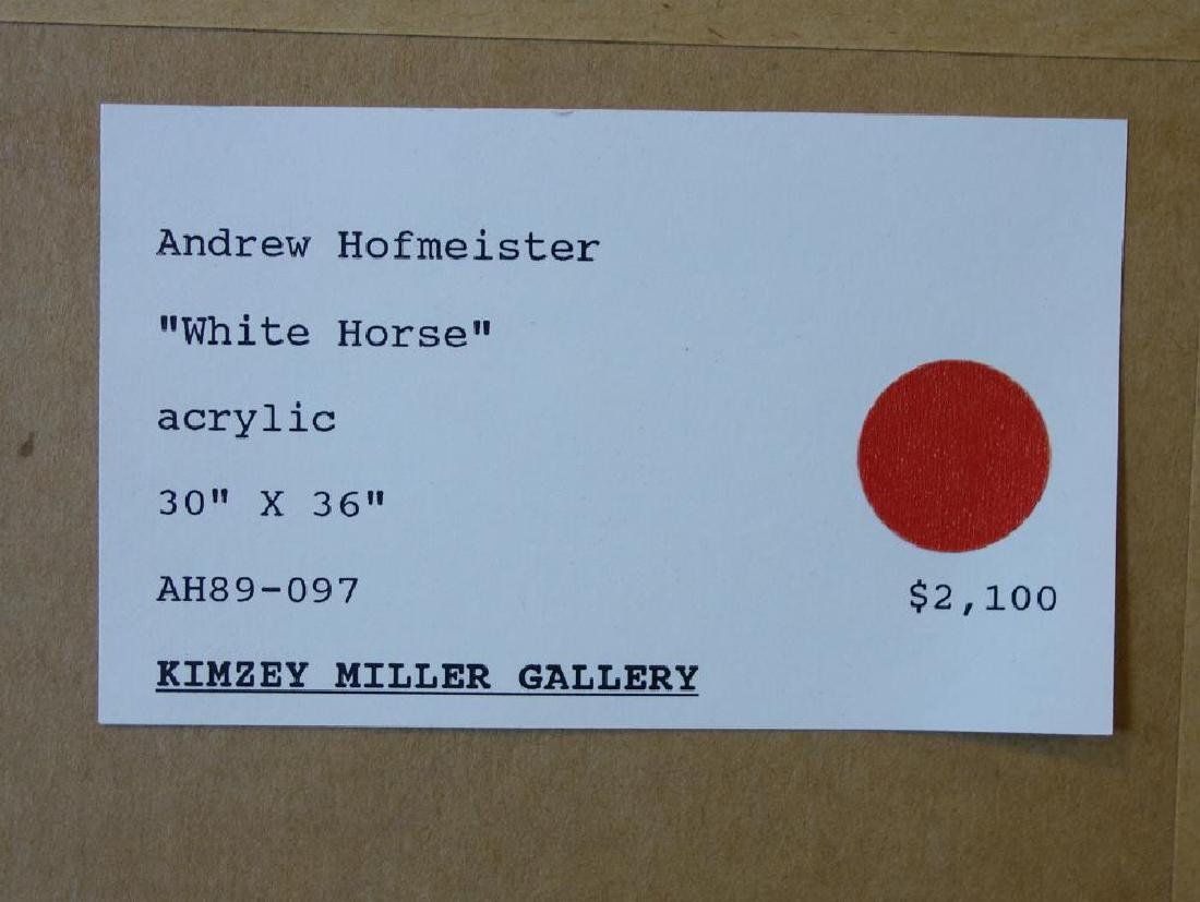 Andrew Hofmeister (1913-2007) White Horse - 4