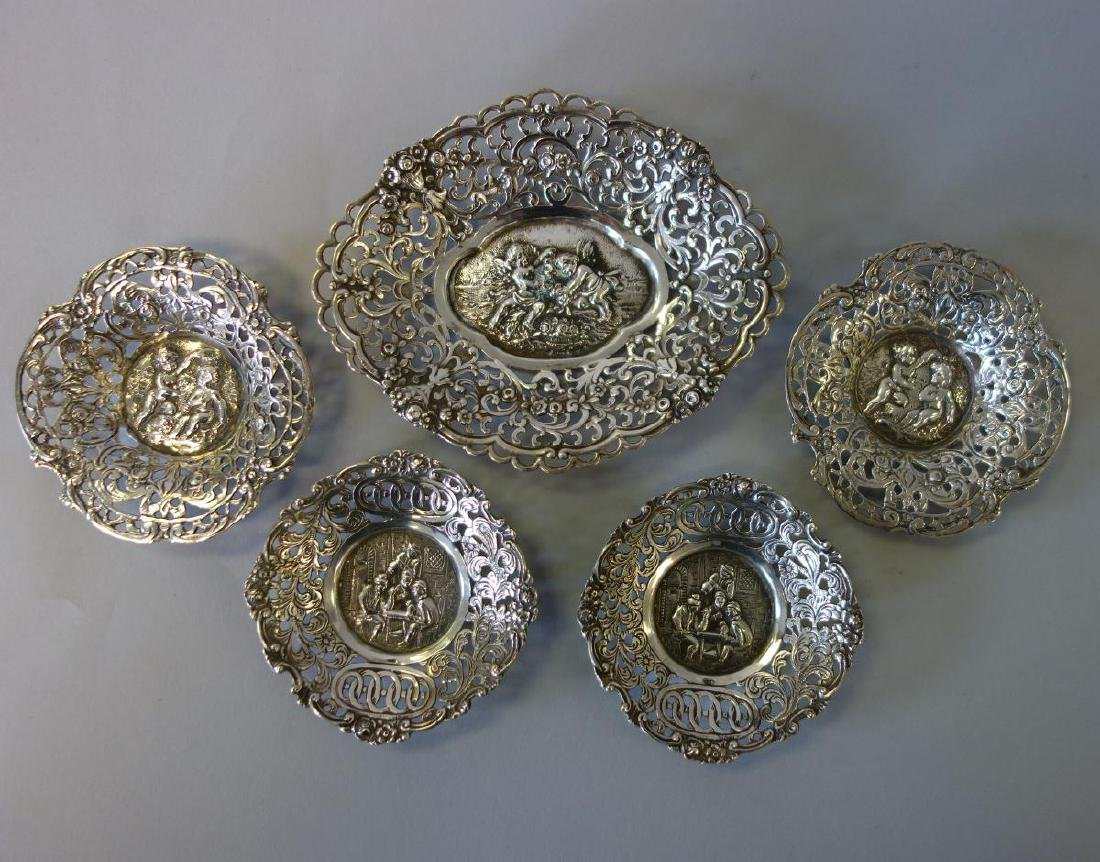 Continental Silver Nut / Candy Dishes