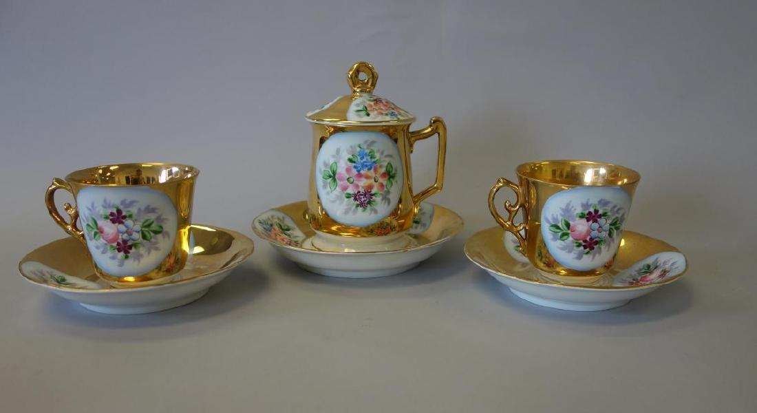 Russian Kuznetsov Porcelain Cups & Underplates