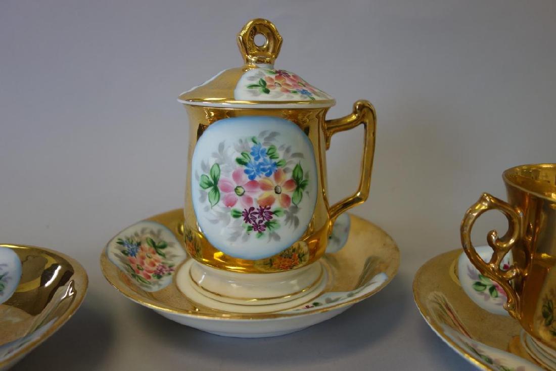 Russian Kuznetsov Porcelain Cups & Underplates - 2