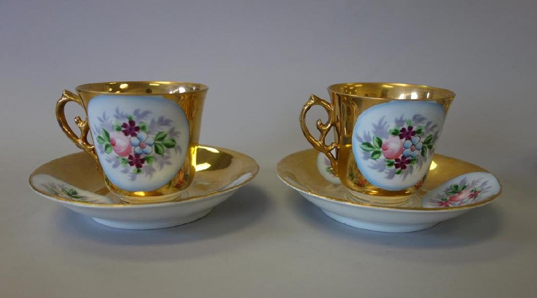Russian Kuznetsov Porcelain Cups & Underplates - 3