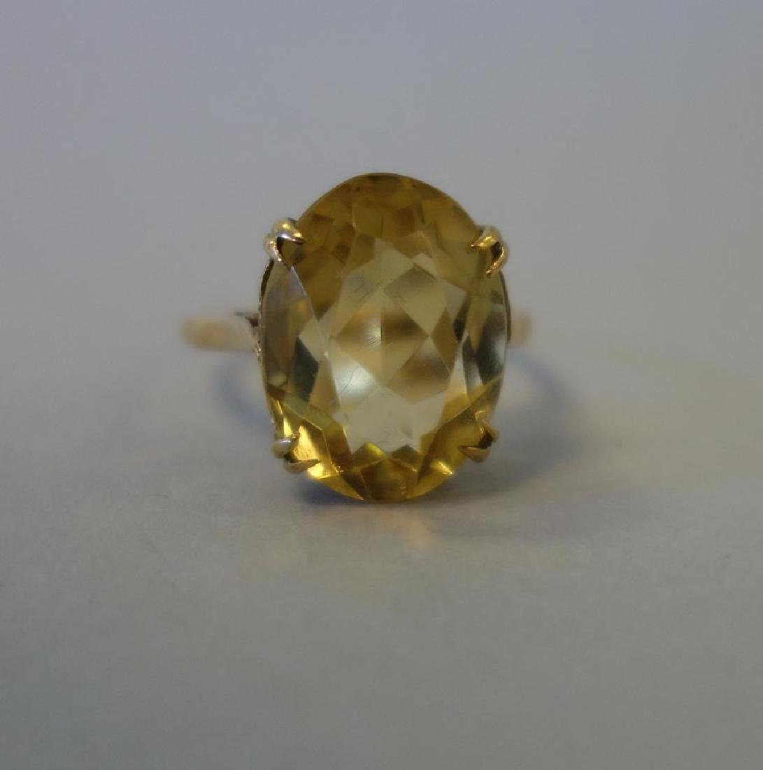 14K Gold & Citrine Ring, 6 Carats, Birmingham UK - 2