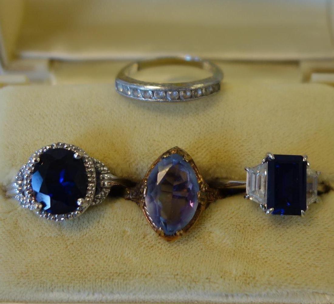4 Lady's Semi-Precious Stone Rings