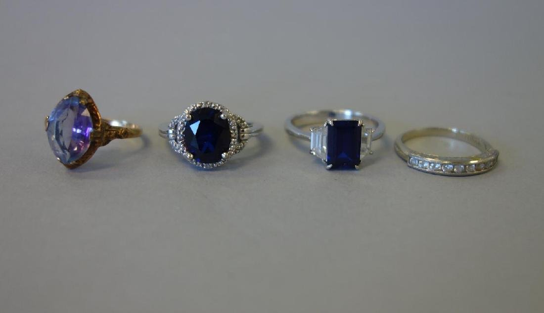 4 Lady's Semi-Precious Stone Rings - 2