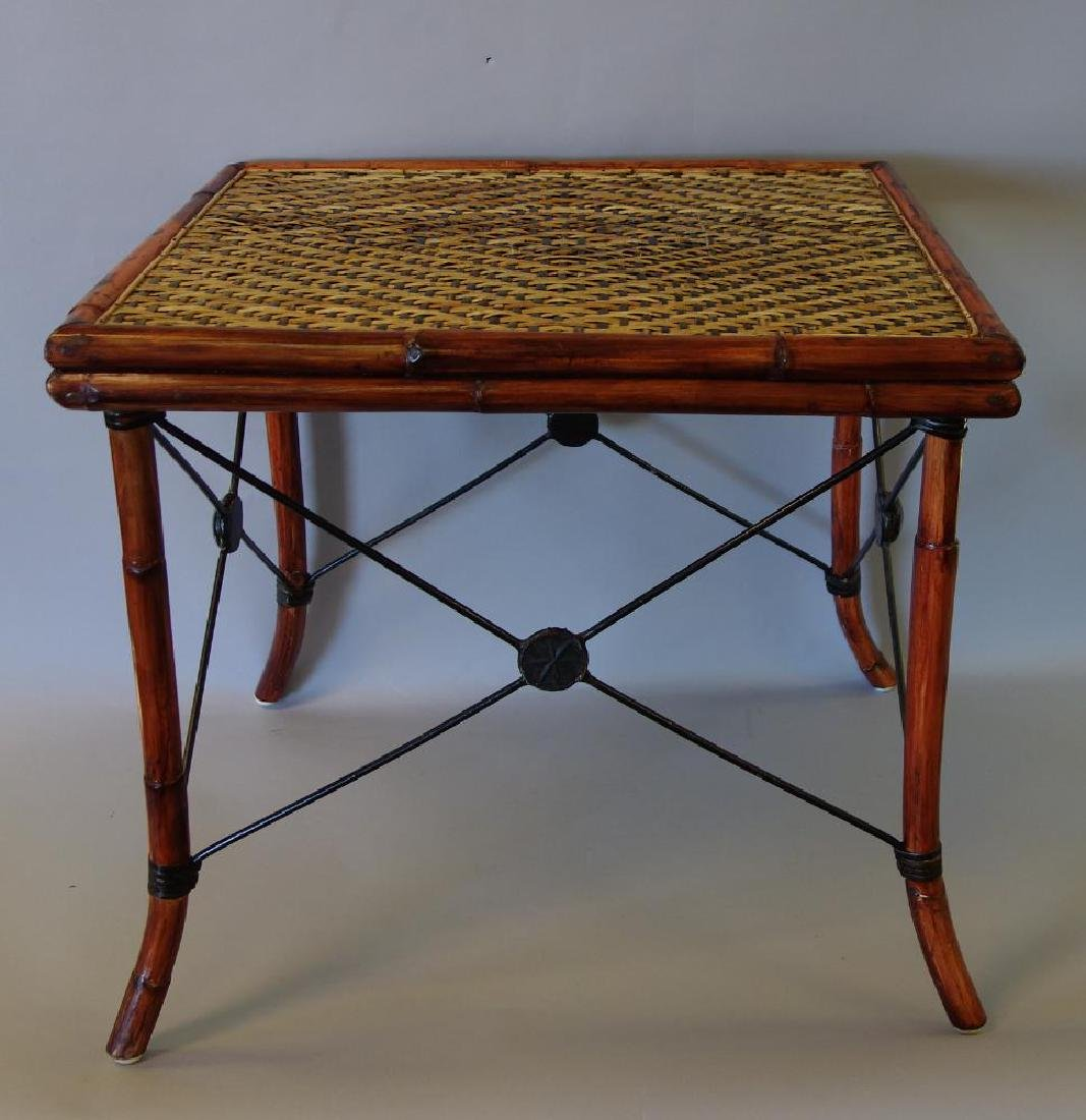 Rattan & Bamboo Side Table