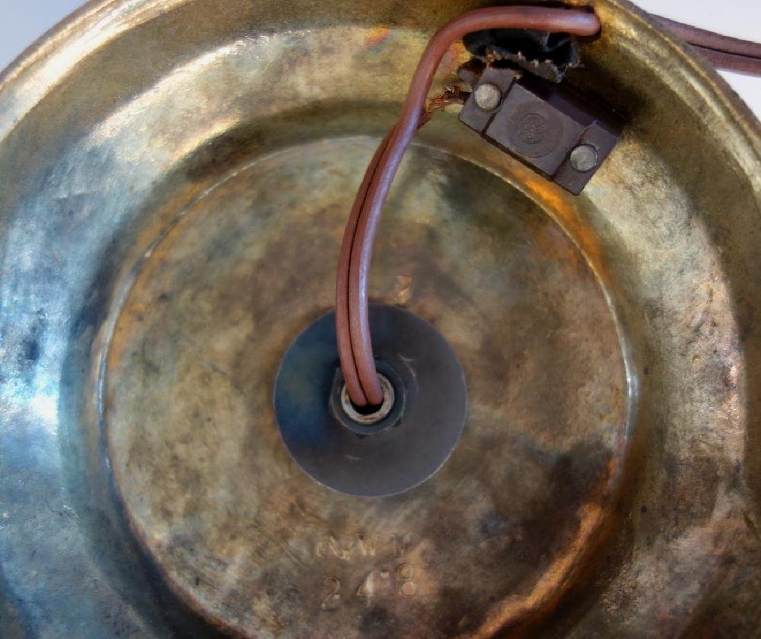 Spelter & Cranberry Glass Figural Lamp, Ariadne & - 5