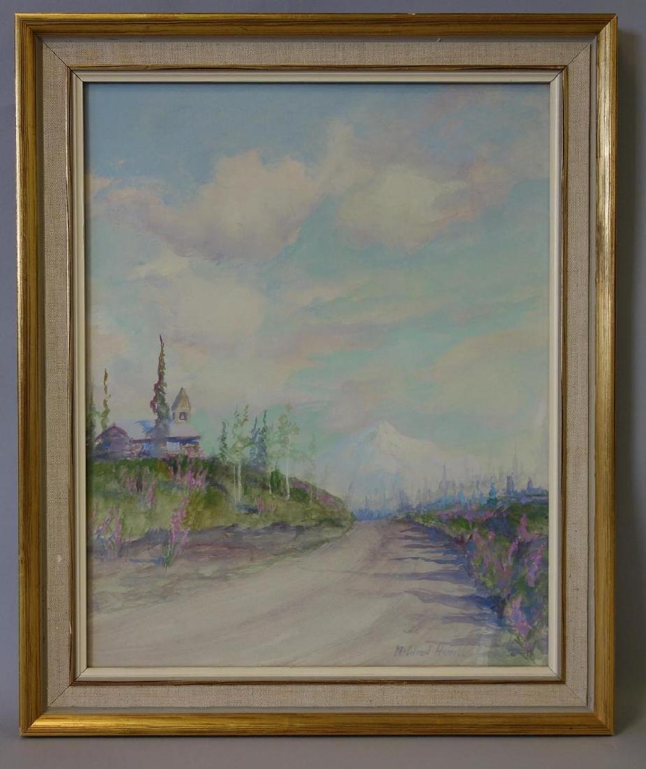 Mildred Hamill (1870-1970)  Alaska Landscape - 2