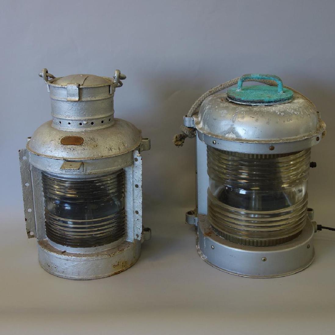 2 Ship's Masthead Lights, Fresnel Lens