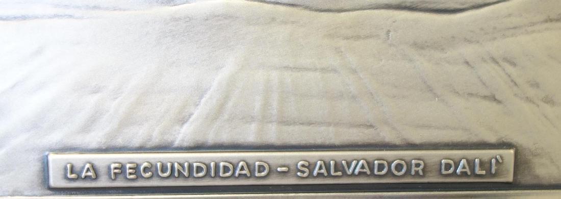 Salvador Dali Sterling Plaque, La Fecundidad - 3