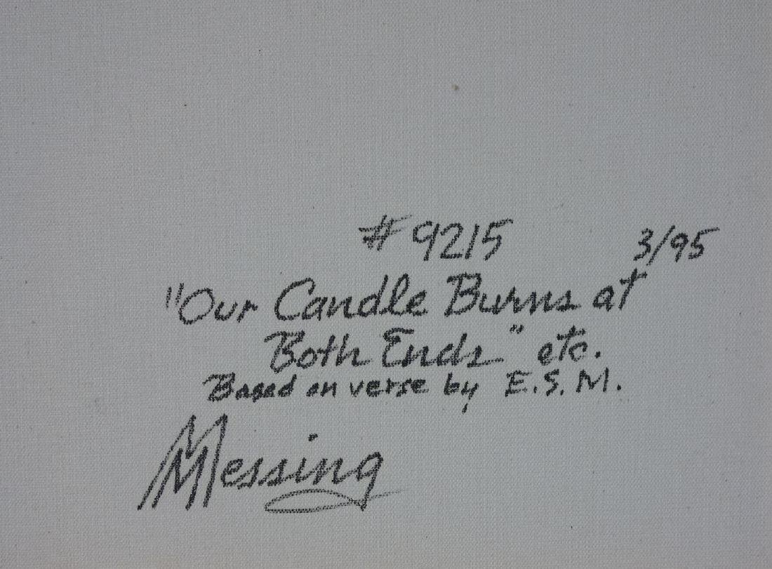 Marvin Messing (1922-2014) Our Candle Burns - 4