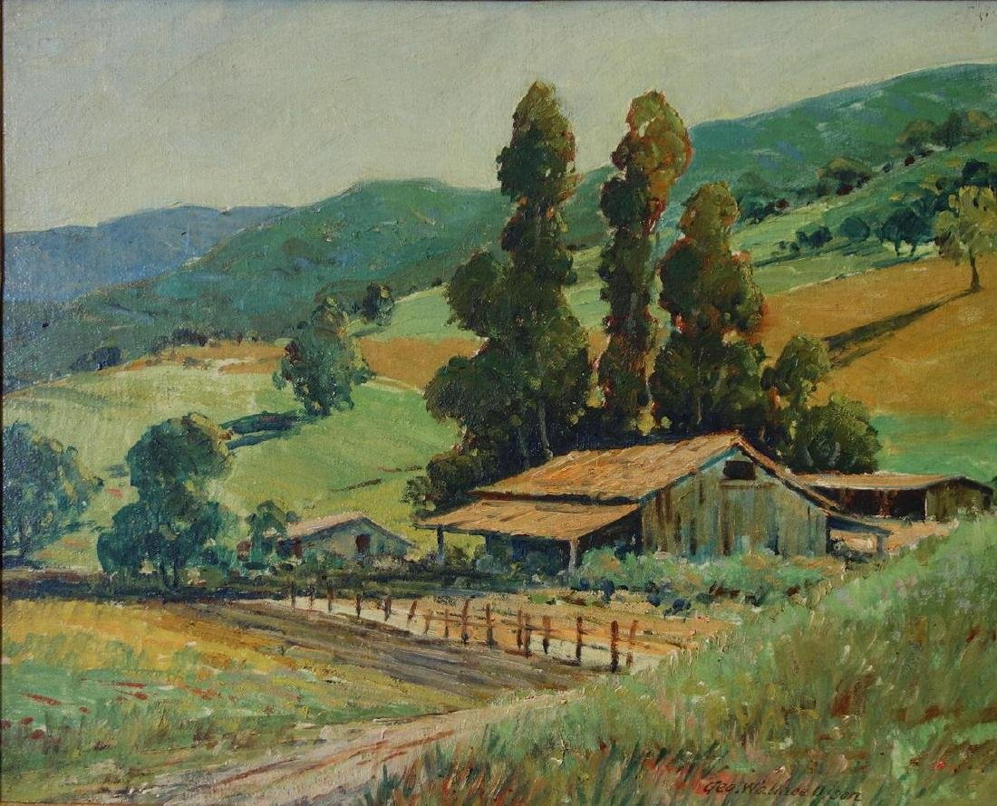 George W Olson (1876-1938) California Landscape
