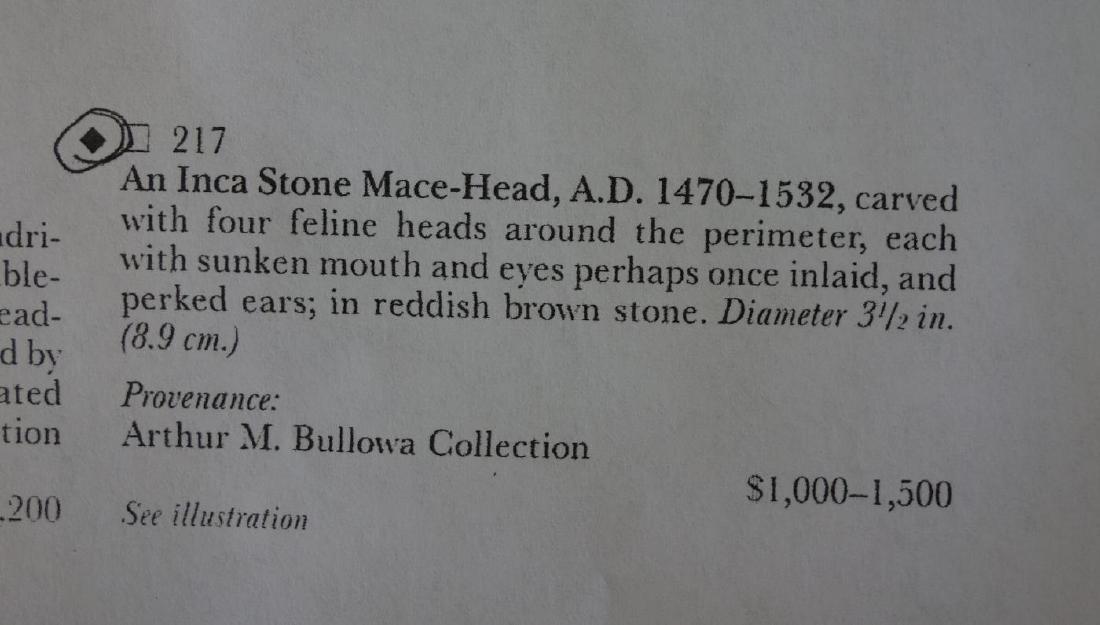 Inca Stone Mace Head, Bullowa Collection - 7