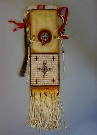 Sioux Beaded Hide Pipe Bag