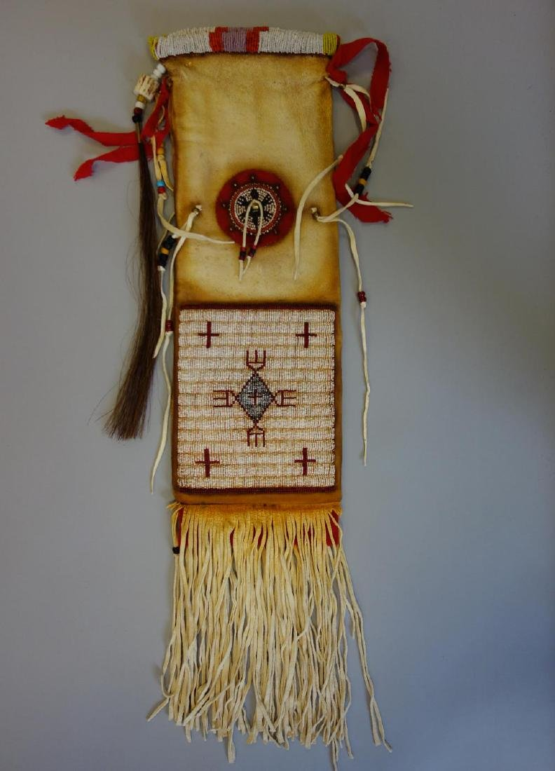 Sioux Beaded Hide Pipe Bag