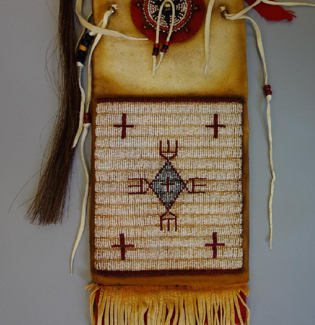 Sioux Beaded Hide Pipe Bag - 2
