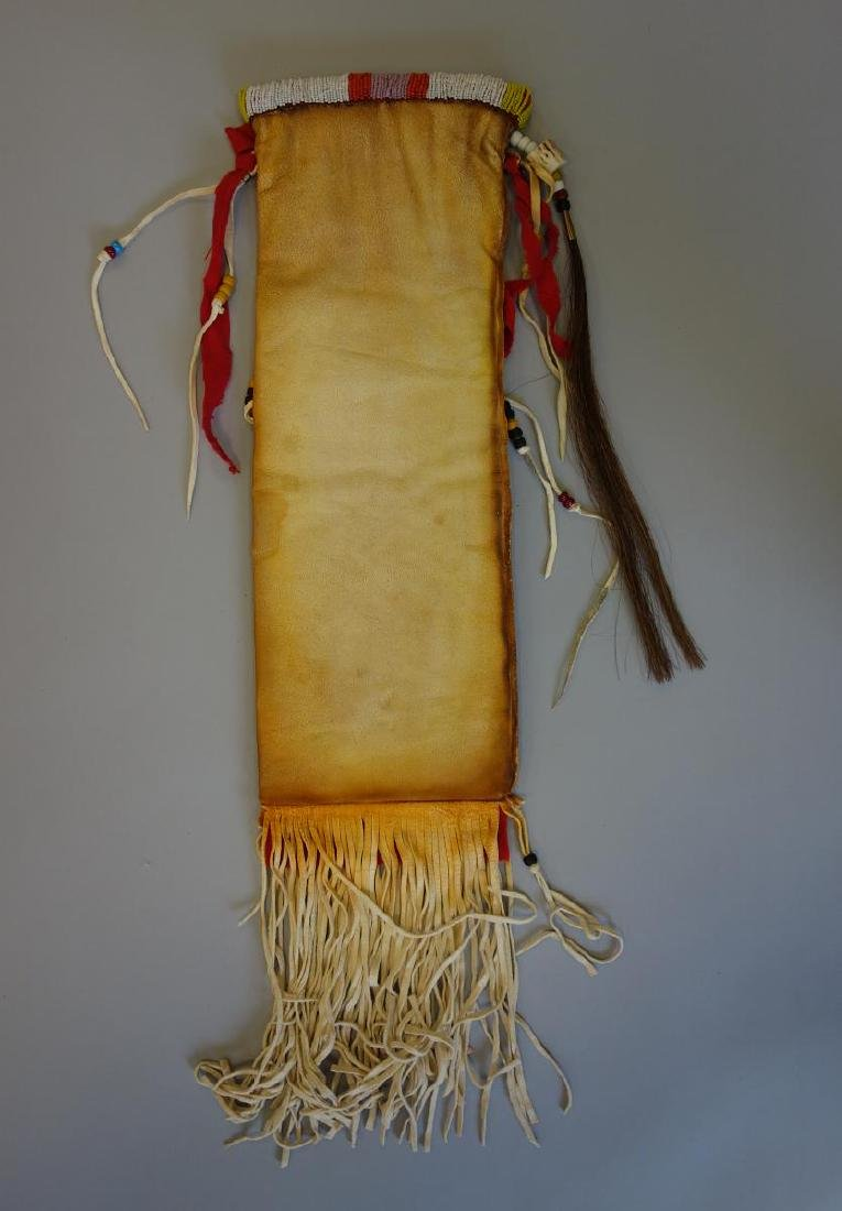 Sioux Beaded Hide Pipe Bag - 4