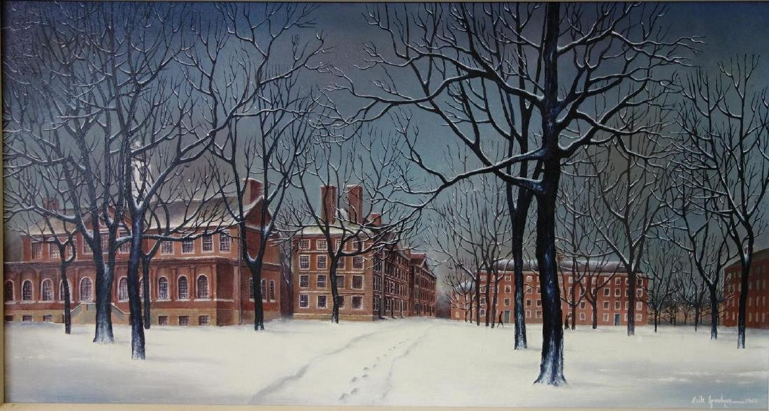 Erik Sprohge (b-1932) Harvard University in Winter