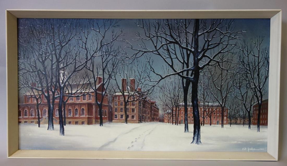 Erik Sprohge (b-1932) Harvard University in Winter - 2